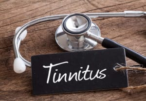 tinnitus on chalk board and stethescope